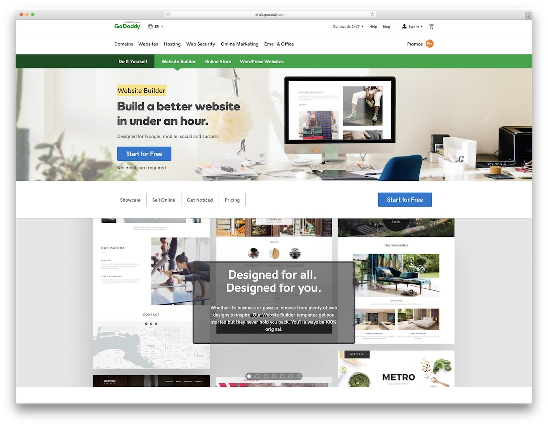 godaddy real estate agent website builder