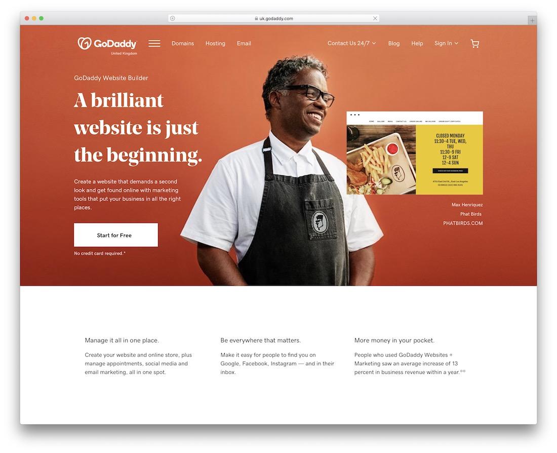 godaddy website builder for non profit organizations