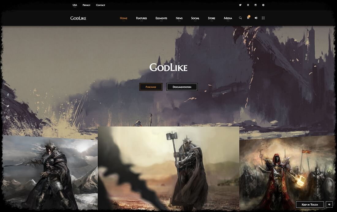 godlike gaming HTML website template