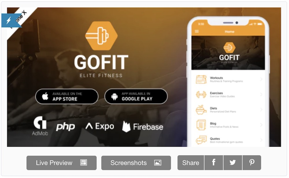 gofit react native app and backend