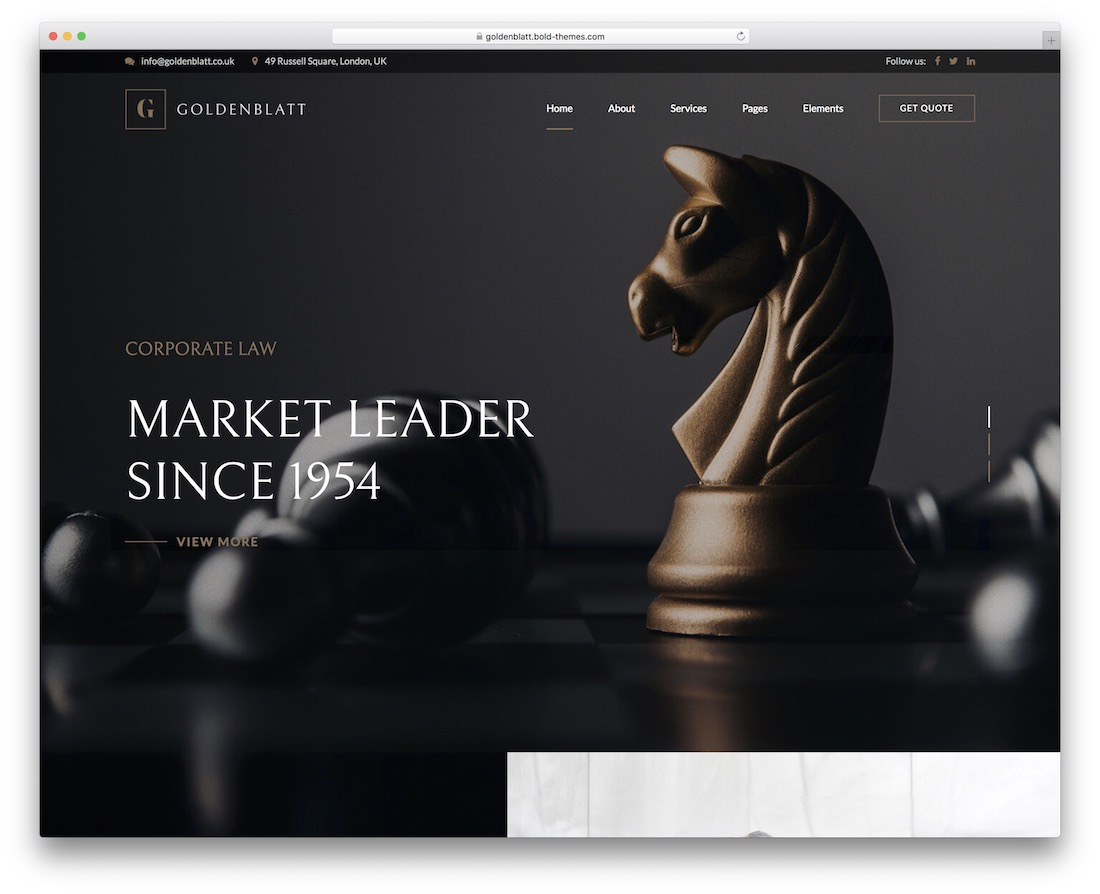 goldenblatt lawyer website template