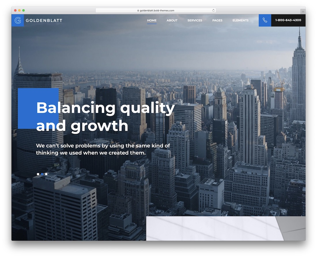 goldenblatt local business wordpress theme
