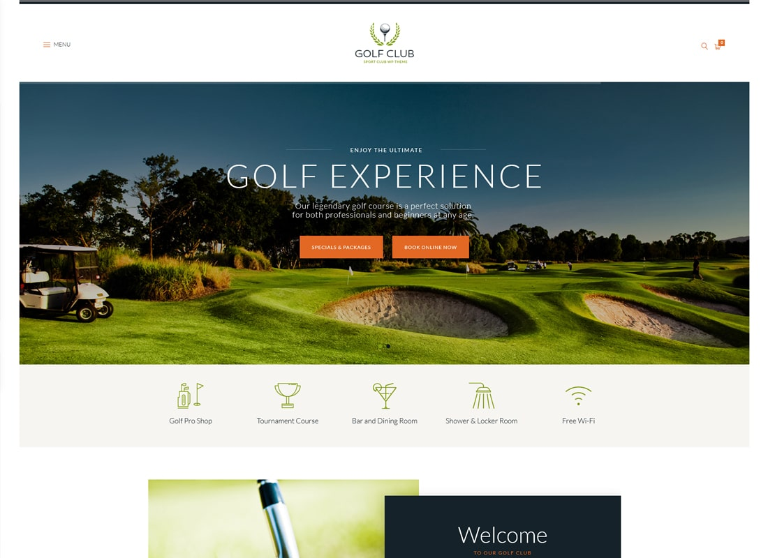 Golf Club - Sports & Events WordPress Theme
