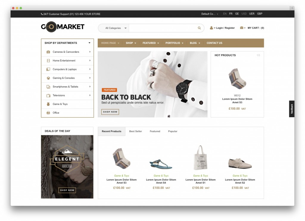 GoMarket WordPress theme