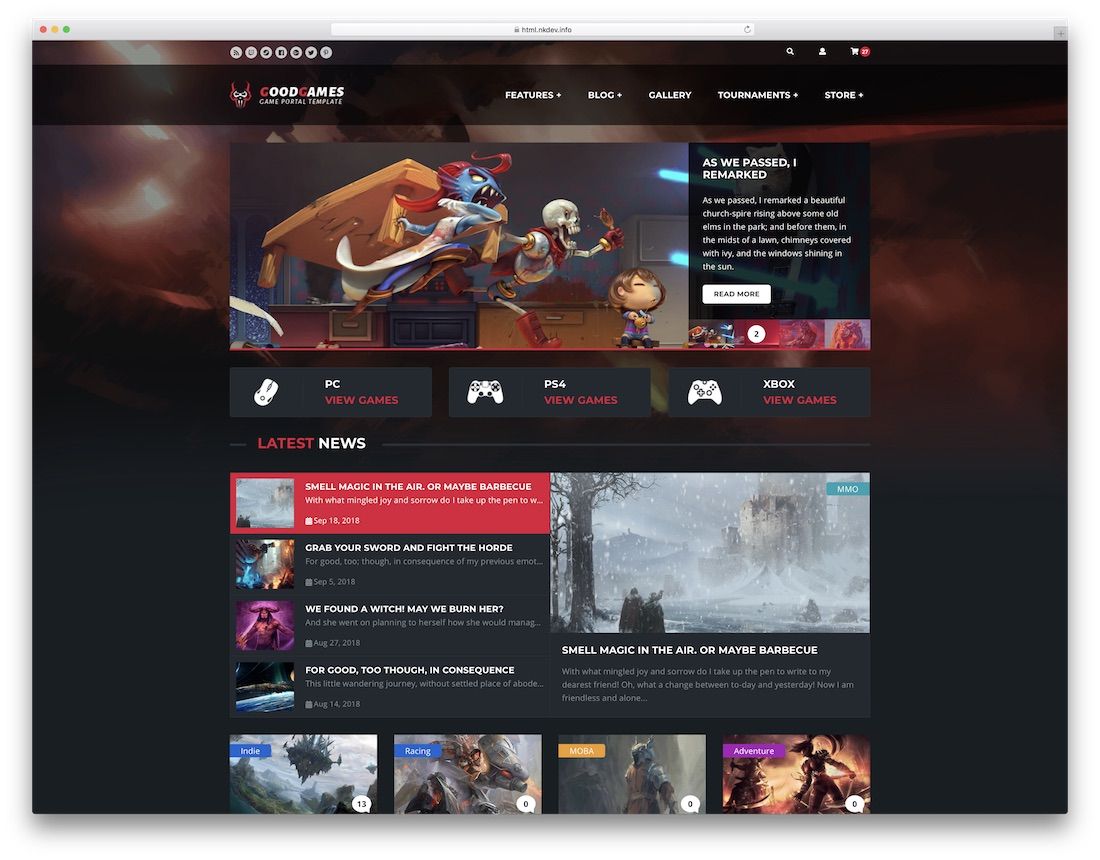 20 Best Clan Website Templates [HTML & WordPress] 2019