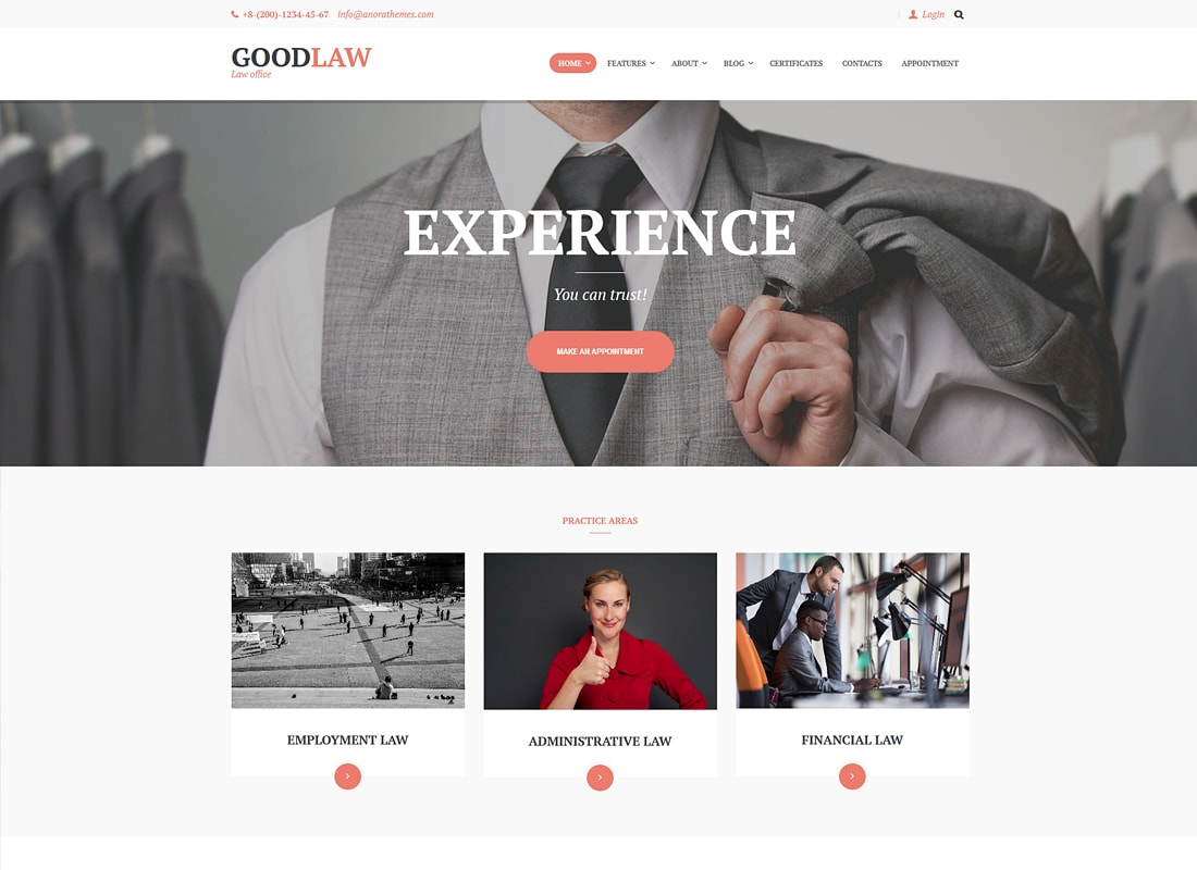 GoodLaw | A Lawyers & Legal Advisor WordPress Theme