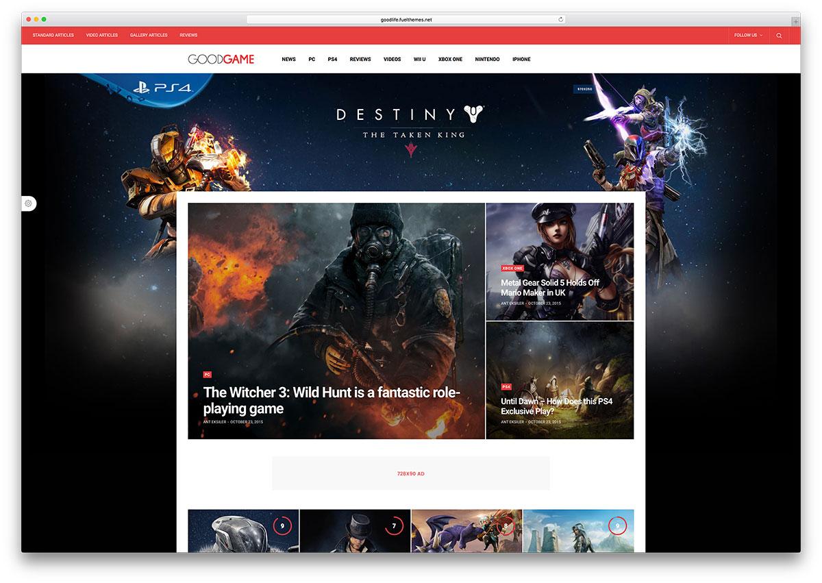 goodlife-creative-gamer-wordpress-theme