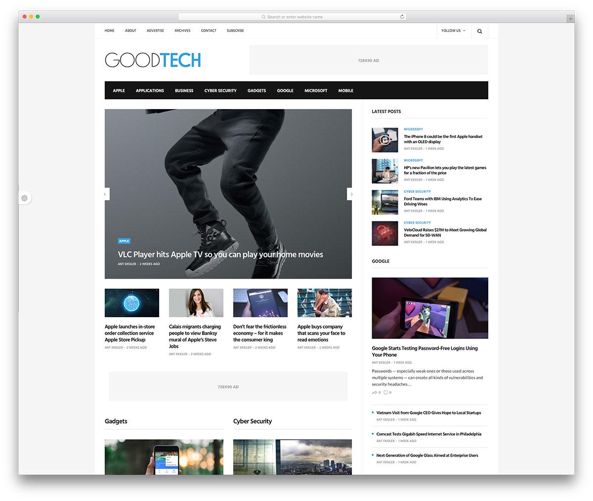 goodlife-fast-tech-blog-website-template