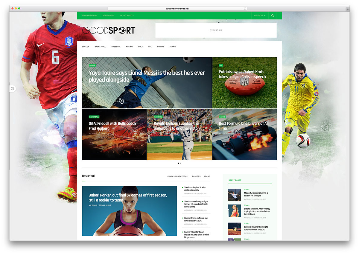 Best WordPress Sports Themes For Magazines and Sports Teams 2017 ...