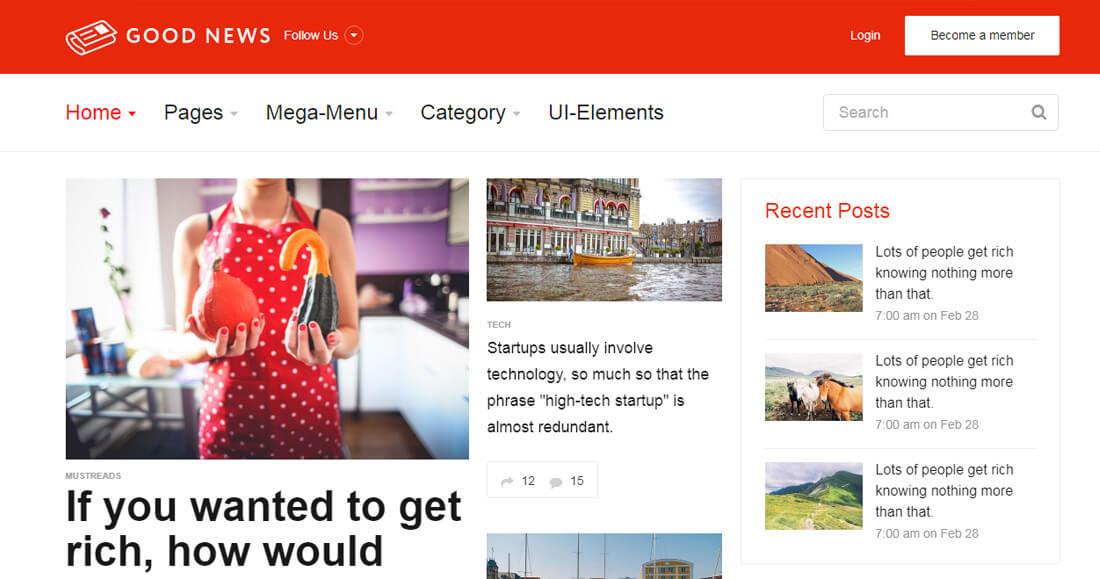 22 Best News Website Templates To Make Viral News - Colorlib
