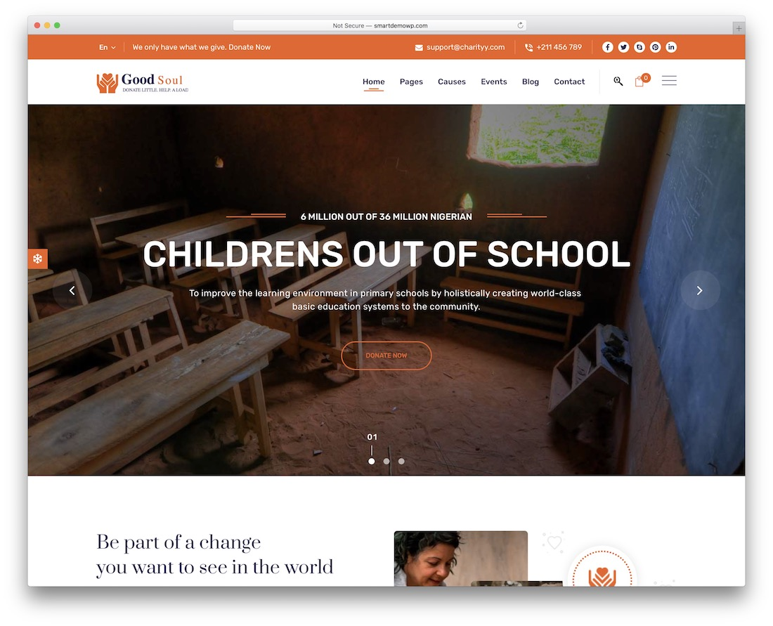 goodsoul wordpress theme for non profit organizations
