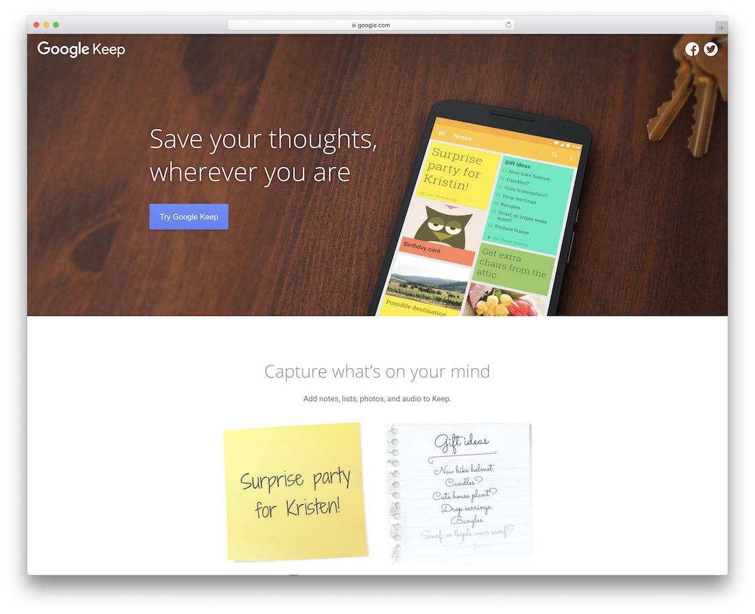 google keep take notes online tool
