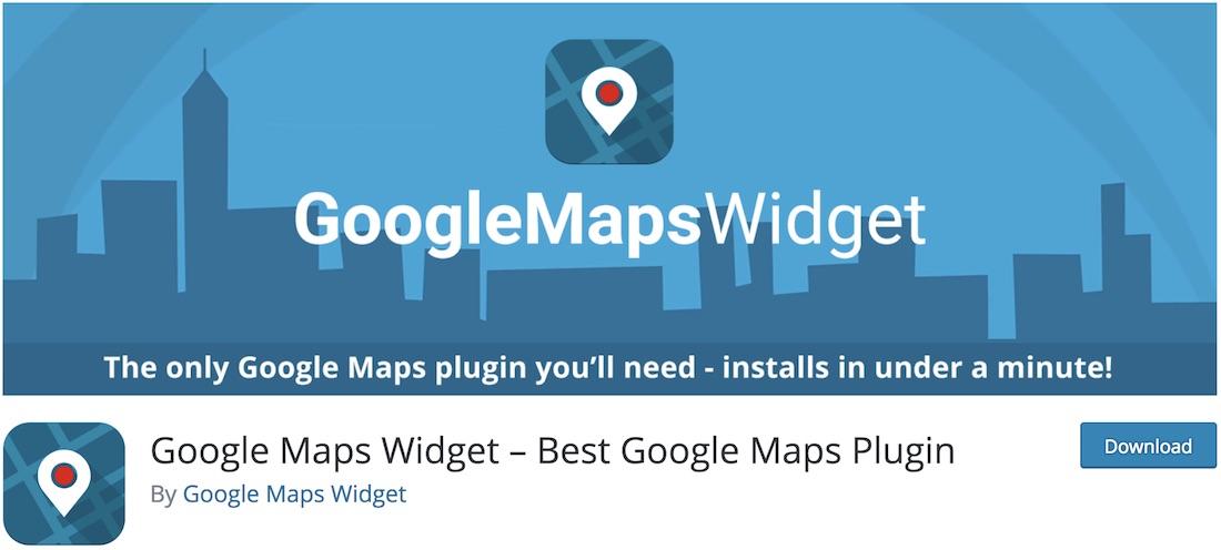 google maps widget wordpress plugin