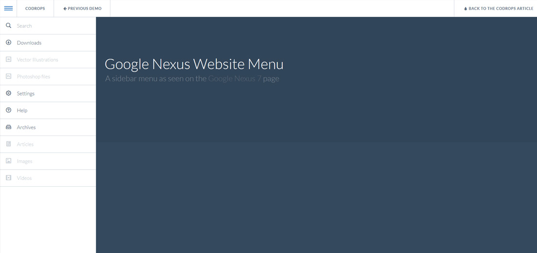 google-nexus-website-menu-free-website-menu-templates
