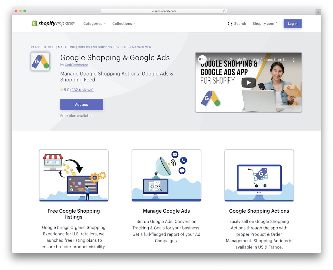 google shopping shopify marketplace app