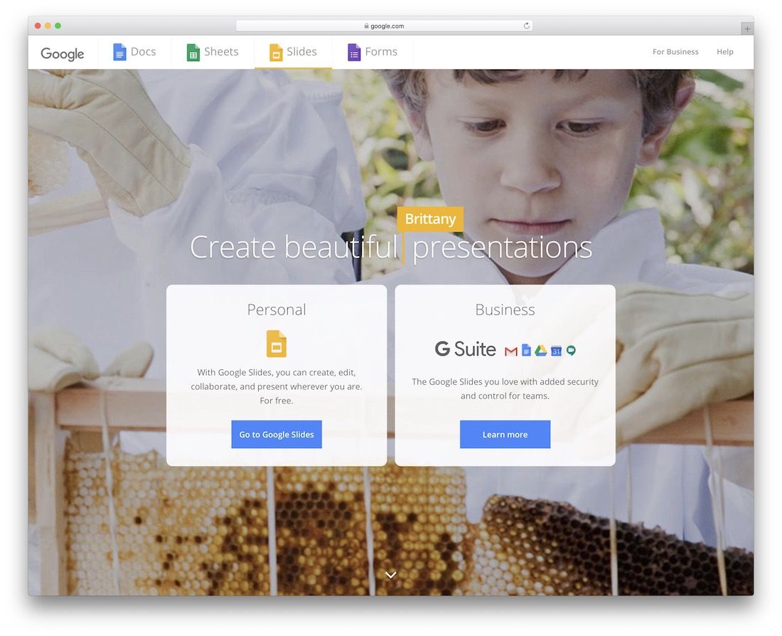 google slides tool for creating and sharing presentations
