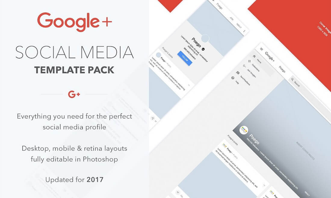 google social media template pack