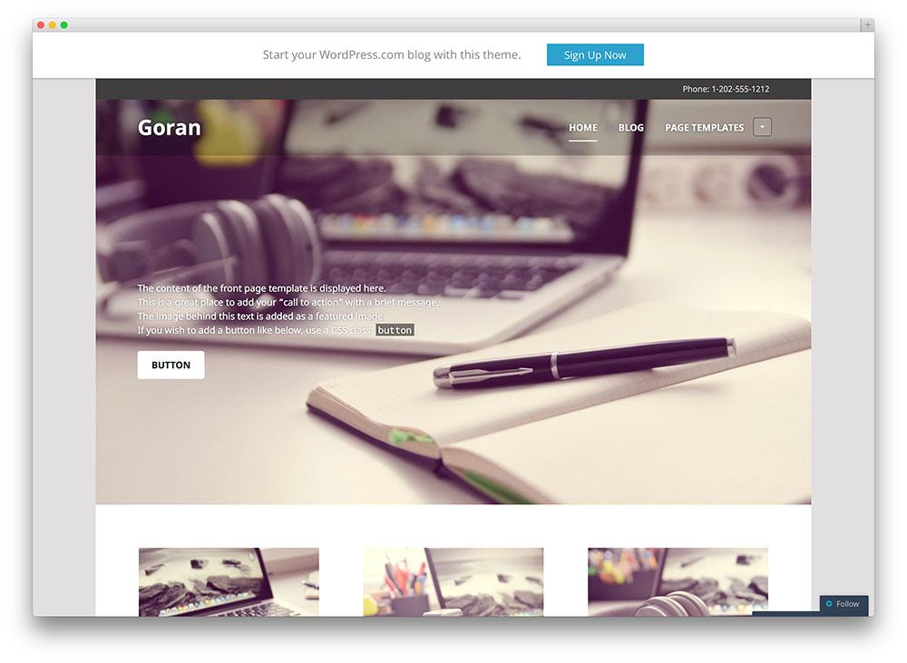 goran - simple photography template