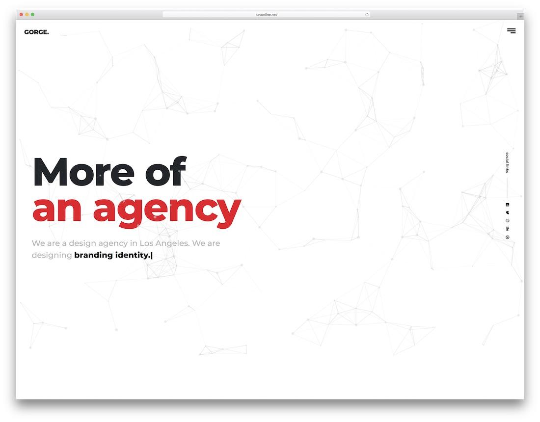 gorge freelancer website template
