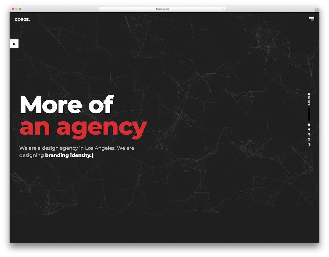 gorge graphic design website template
