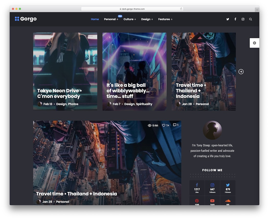 gorgo technology news wordpress theme