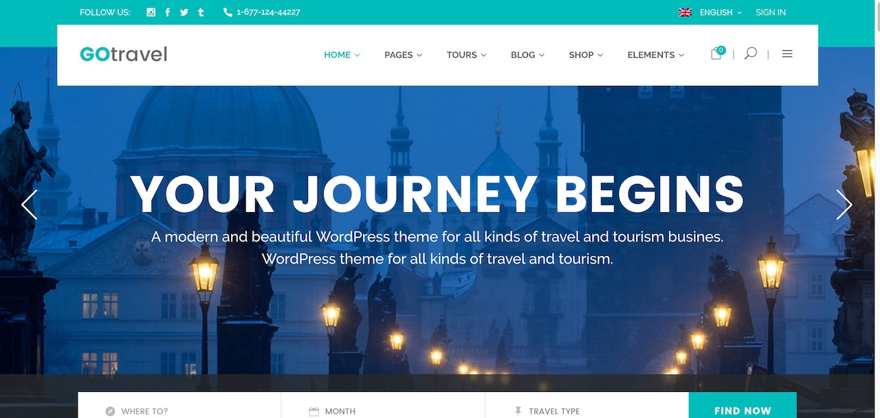 Travel Agency Website >> 32 Customizable Travel Agency Wordpress Themes 2019 Colorlib