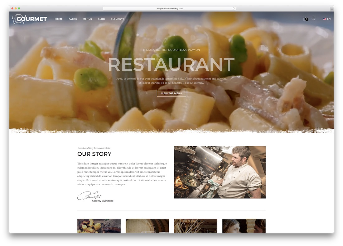 gourmet html5 website template