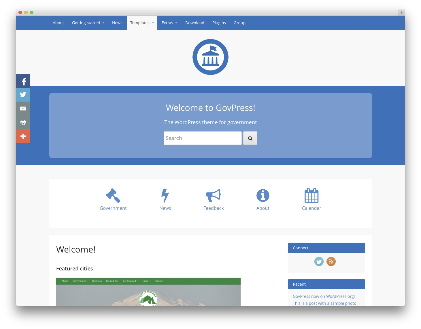 GovPress WordPress theme