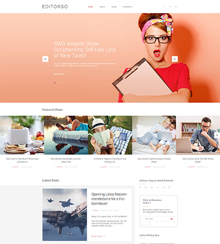 GPL Writer WordPress Template