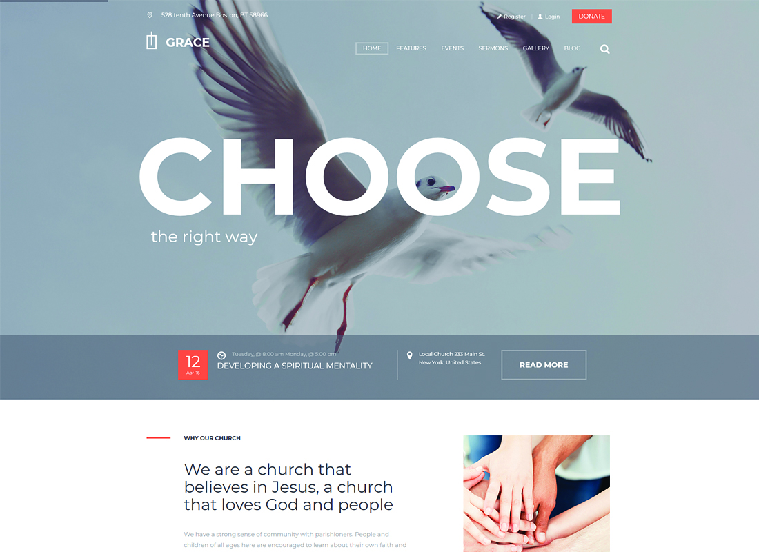 Grace - Church & Religion WordPress Theme