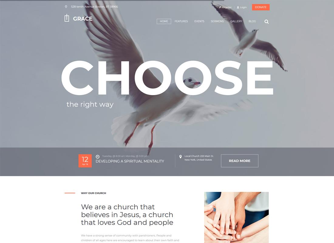 Grace - Church & Religion WordPress Theme