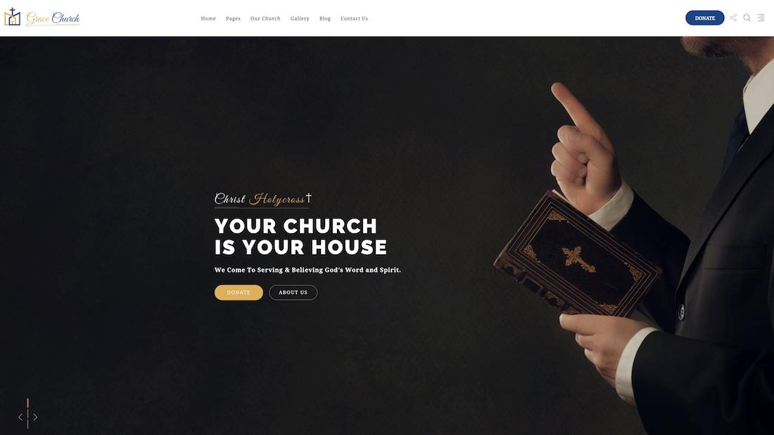 grace church website template