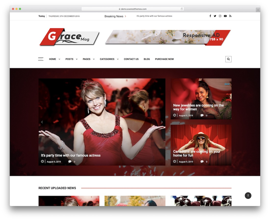 grace mag free news wordpress theme