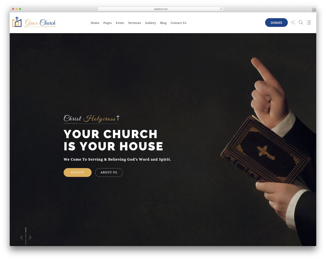 grace church website template