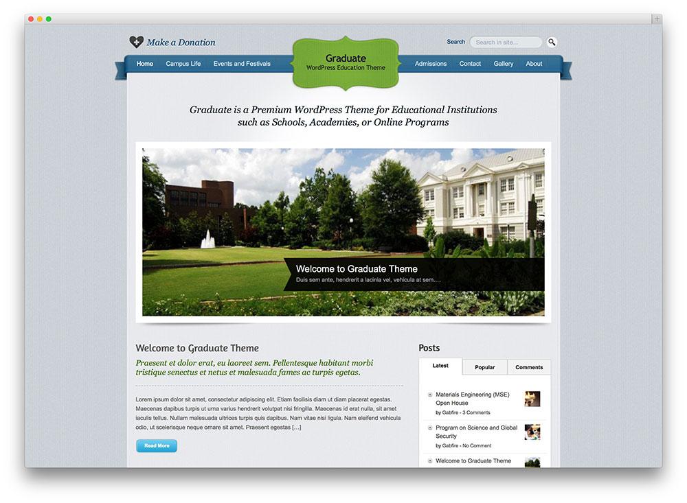 graduate - classic education theme