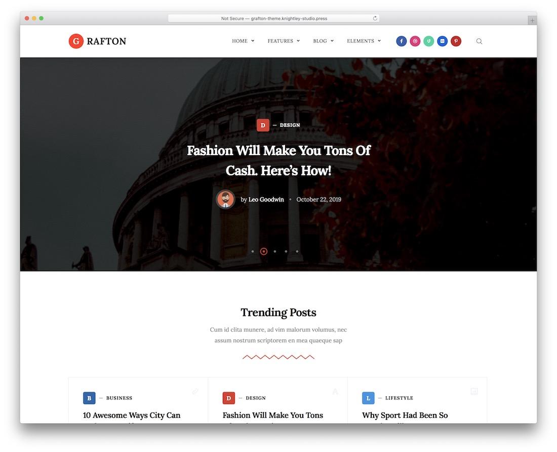 grafton wordpress review theme