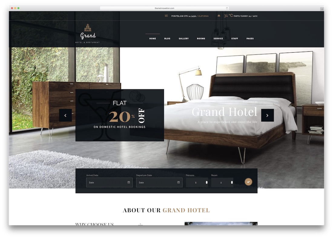 grand hotel html5 website template