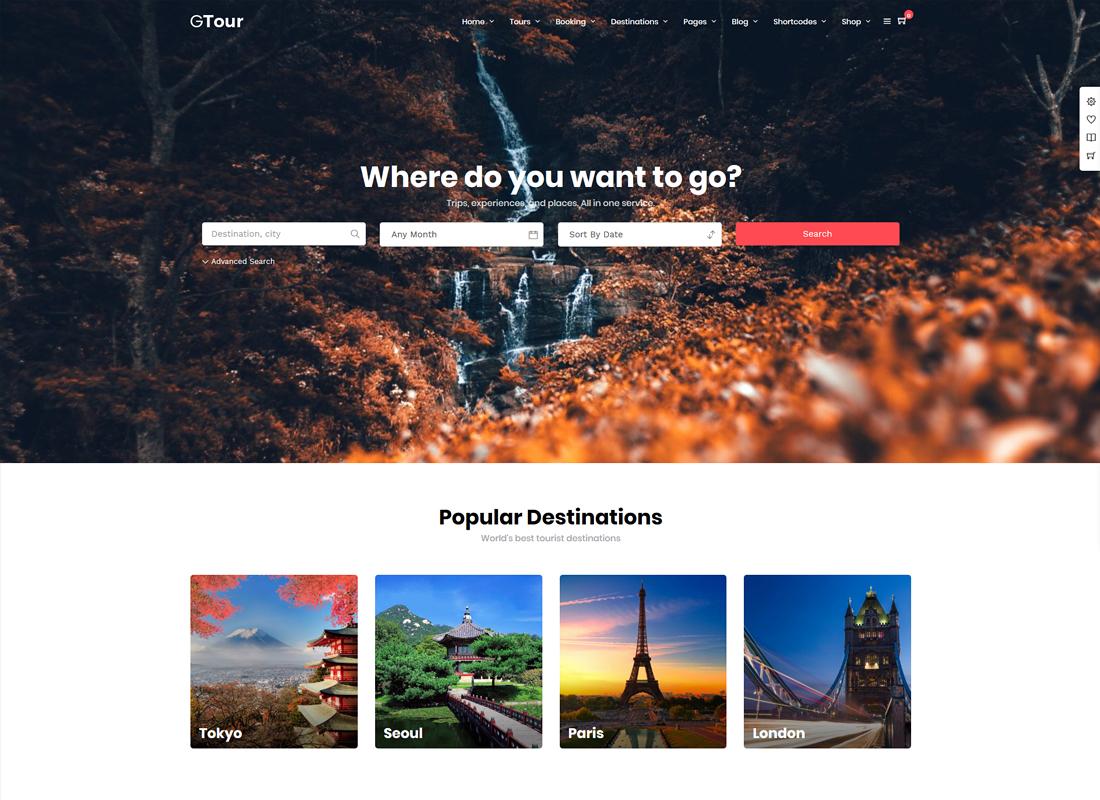 Grand Tour | Tour Travel WordPress Theme