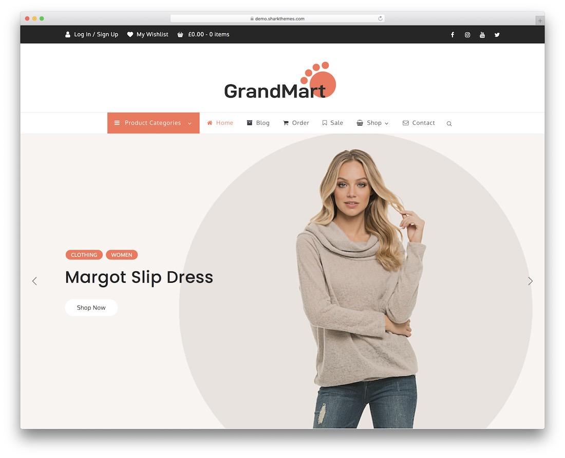 grandmart free wordpress theme