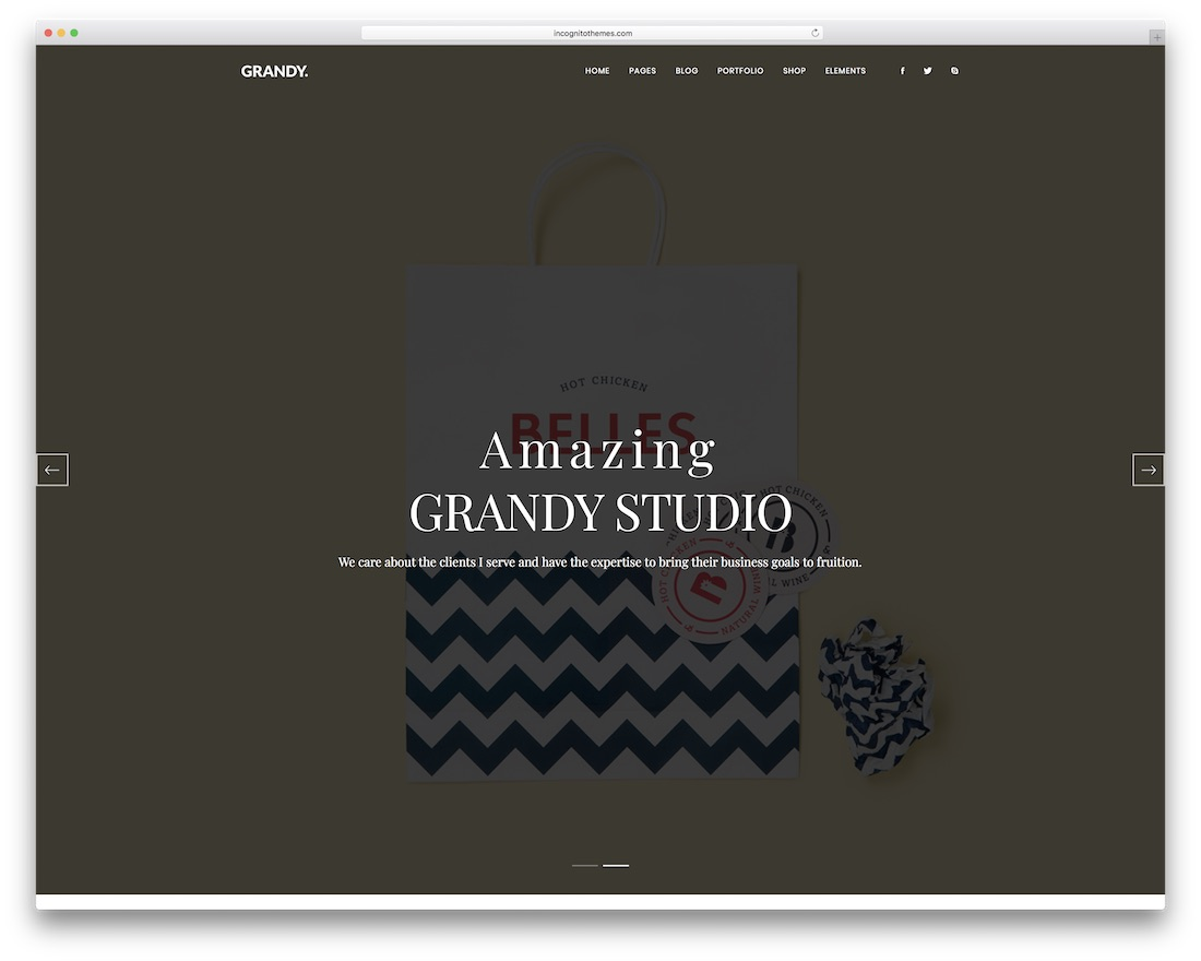grandy grid website template