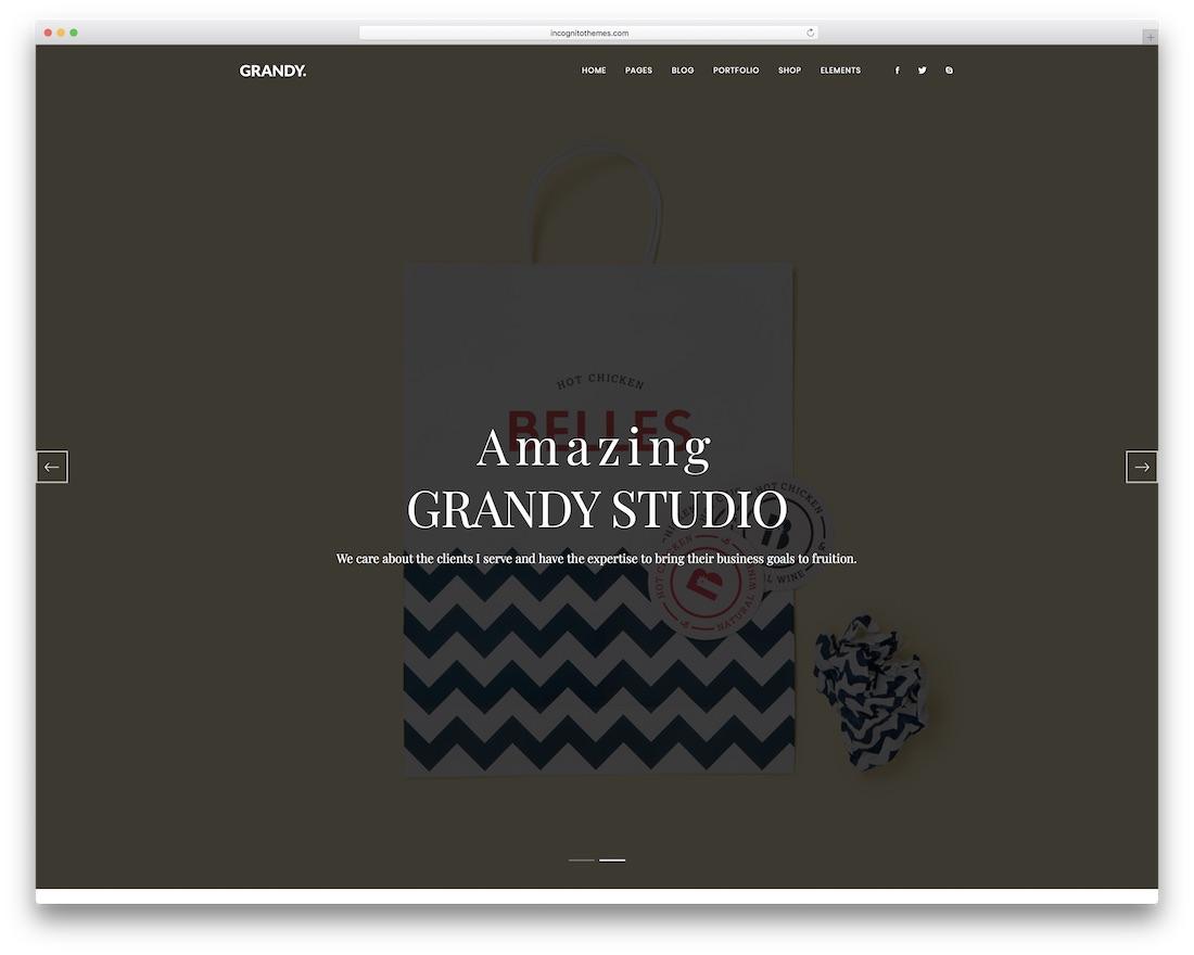 grandy grid website template