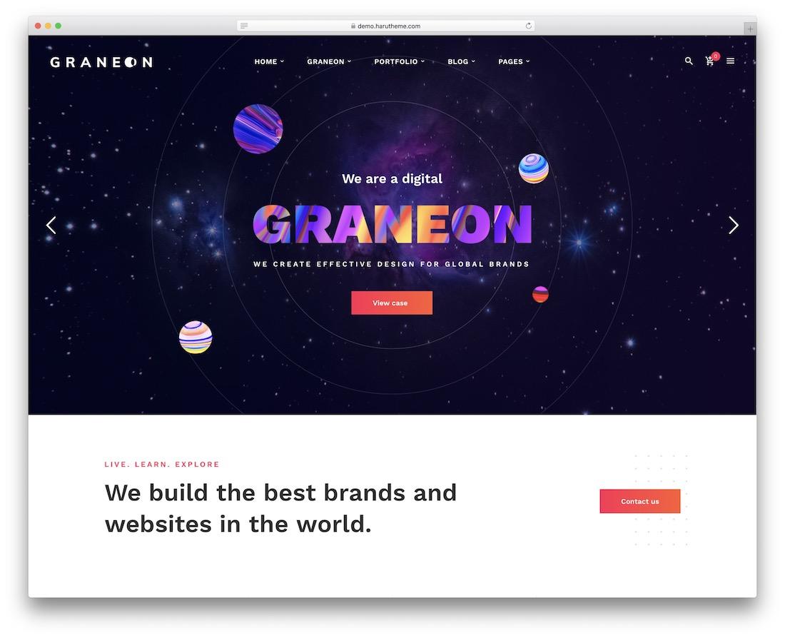 graneon videographer wordpress theme