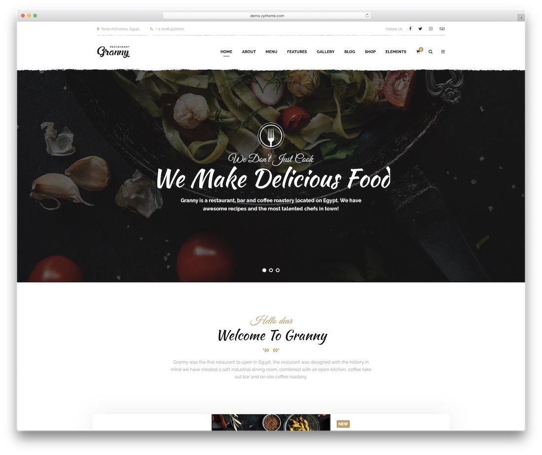 granny food website template