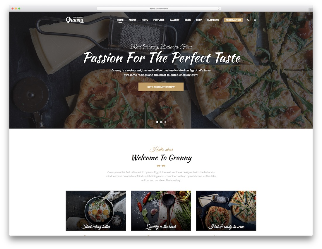 Granny Parallax Website Template