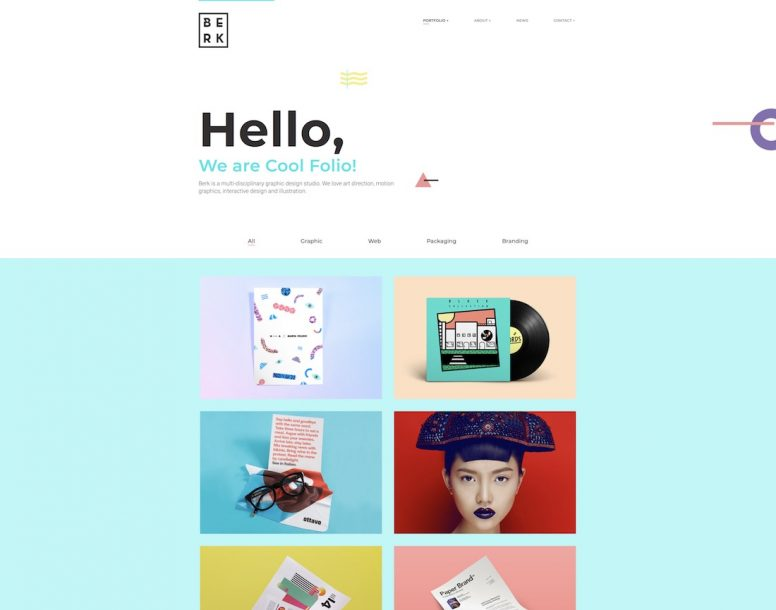 20 Best Responsive Graphic Design Website Templates 2018