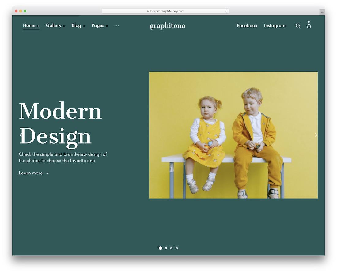 graphitona photo sharing wordpress theme