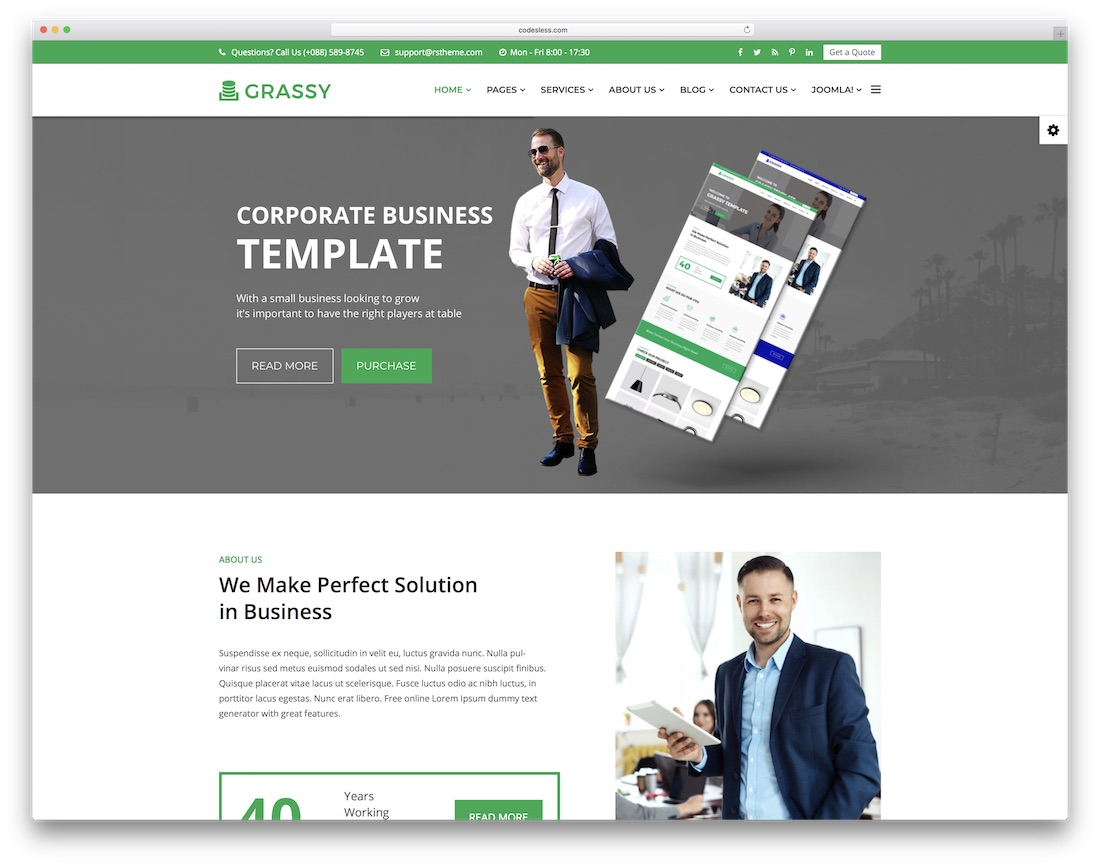 21 best most compelling joomla business templates 2018 colorlib grassy joomla business template wajeb Images