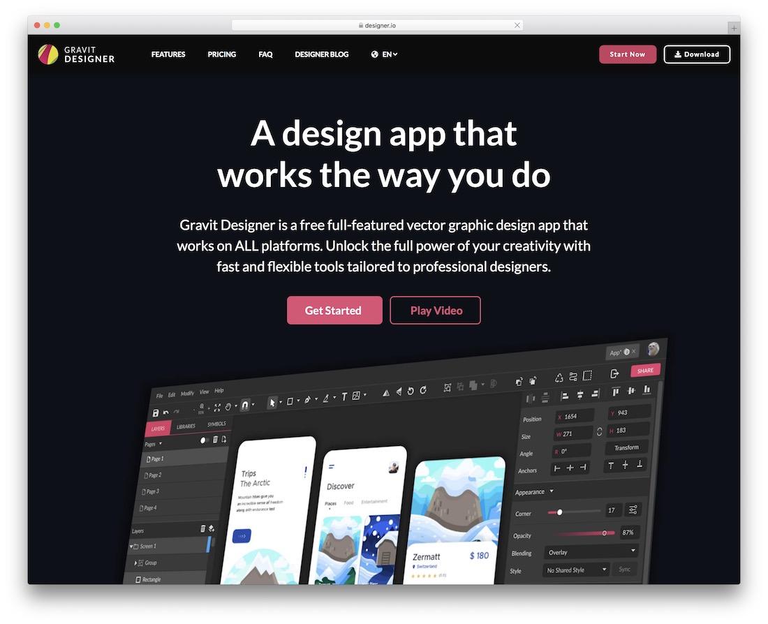 gravit designer free svg editor
