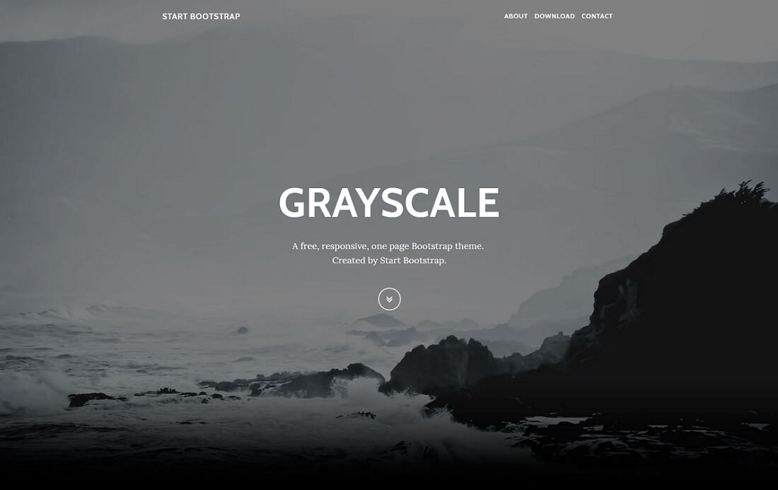 grayscale free bootstrap 4 website template
