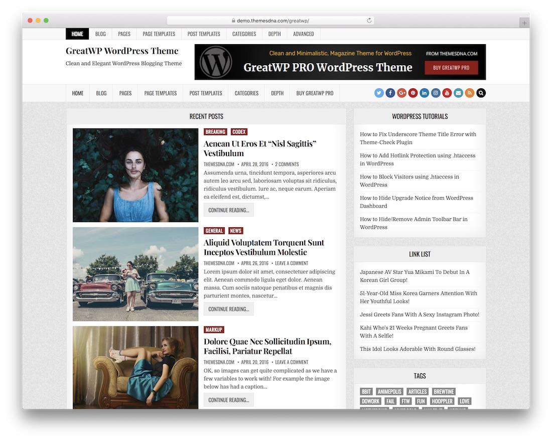 greatwp free wordpress theme